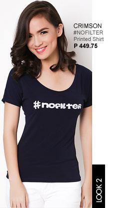 #NoFilter Printed Shirt