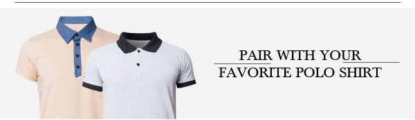 Pair with your favorite Polo Shirt