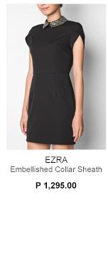 Embellished Collar Sheath Dress