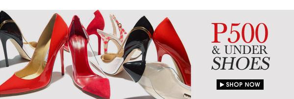 P500 & Under Shoes