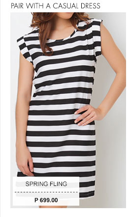 Wesley Striped Short Dress