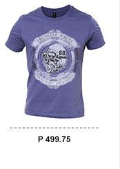 Skull Print Basic T-shirt