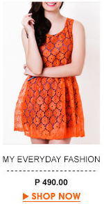 Lace Orange Blue Dress