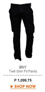 Twill Slim-Fit Pants