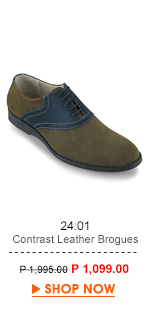 Cotrast Leather Brogues