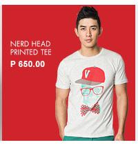 Nerd Head Printed Tee