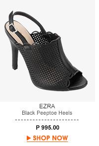 Black Peeptoe Heels