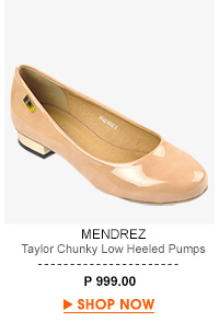 Taylor Chunky Low Heeled Pumps