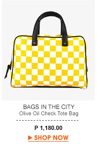 Olive Oil Check Tote Bag