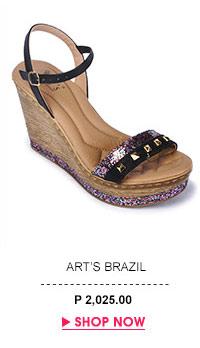Preto Wedge Sandals