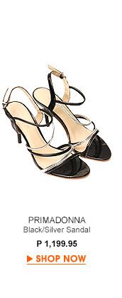 Black/Silver Sandal Heels
