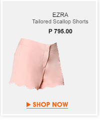 Tailored Scallop Shorts