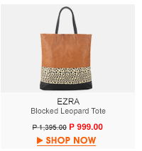Blocked Leopard Tote
