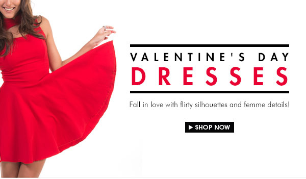 Shop Your V-Day Dresses!