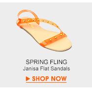 Janisa Flat Sandals
