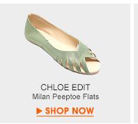 Milan Peeptoe Flats