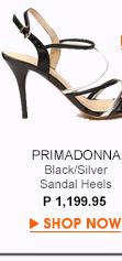 Black Silver Sandals