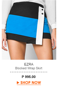 Blocked Wrap Skirt