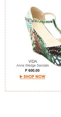 Anne Wedge Sandals