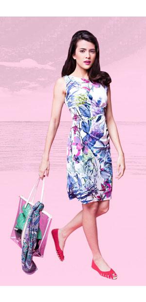 Noelle Sleeveless Printed Dress