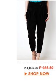 Black Megan Relaxed Pleated Pants