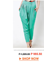 GreenMegan Relaxed Pleated Pants