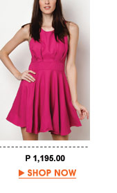 Pink Amira Bias Cut Dress