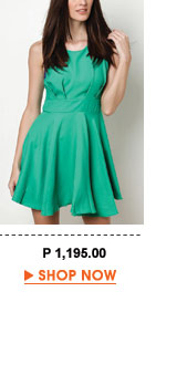 Green Amira Bias Cut Dress
