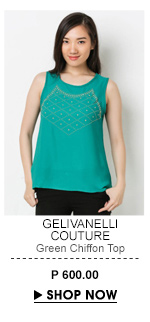 Green Chiffon Top