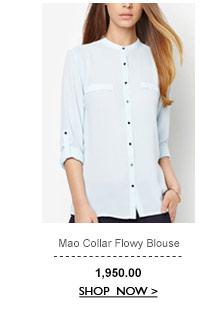 Mao Flowy Blouse