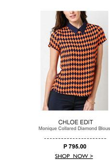 Monique Collared Diamond Blouse