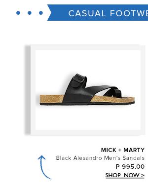 Black Men's Sandals