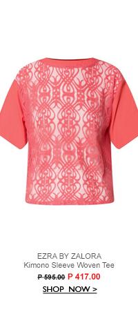 Kimono Sleeve Woven Tee