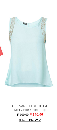 Mint Green Chiffon Top