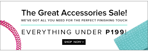 The Great Accessories Sale
