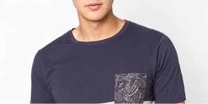 Paisely Pocket Tee