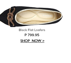 Black Flat Loafers