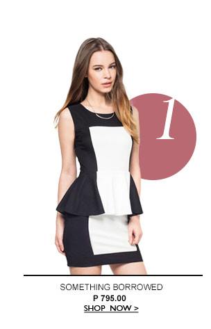 Blocked Peplum Dress