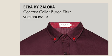 Contrast Collar Button Shirt