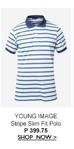 Stripe Slim Fit Polo