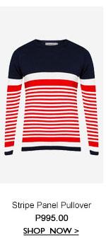 Stripe Panel Pullover