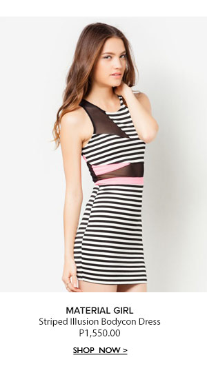 Striped Illusion Bodycon Dress