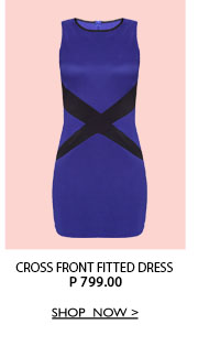 Cross Front Fitted Dress