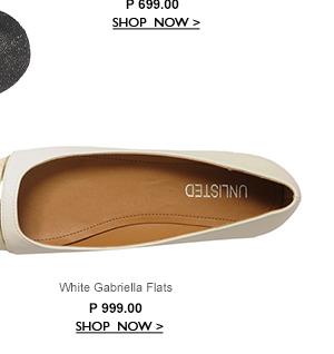 White Gabriella Flats