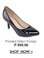 Pointed Kitten Pumps