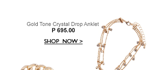Gold Tone Drop Anklet