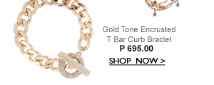 Gold T Bar Bracelet