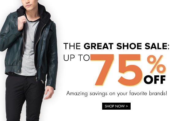 The Great Shoe Sale Up to 75% OFF