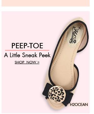 Shop Peeptoe Flats