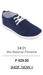 Mix Material Plimsolls
